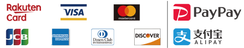VISA, MasterCared, JCB, AMERICANEEXPRESS(AMEX), Diners Club, DISCOVER PayPay